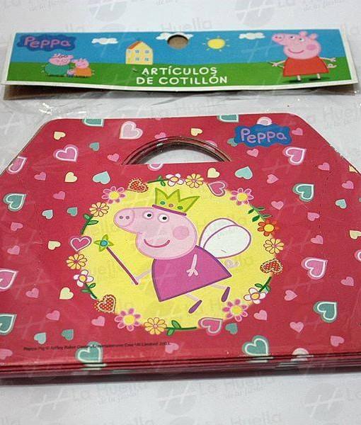 Peppa pig cajita sorpresa x 10 la huella cotill n for Espectaculo peppa pig uruguay