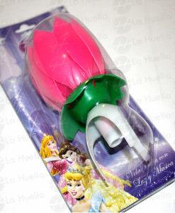 vela-flor-musical-rosada-princesas