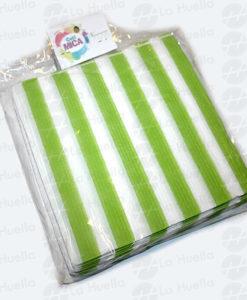 servilletas-rayas-verde-limon-blanco